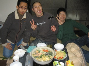Nabe party with japanese friends