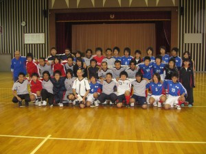 Friendly soccer match with high school students (me at middle row, fifth from left)